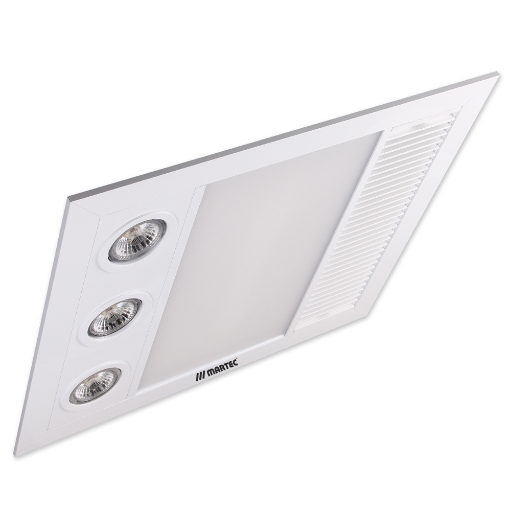 Linear Mini 3 In 1 Bathroom Heater With Exhaust Fan And Light Code 6002 Suncom Lighting